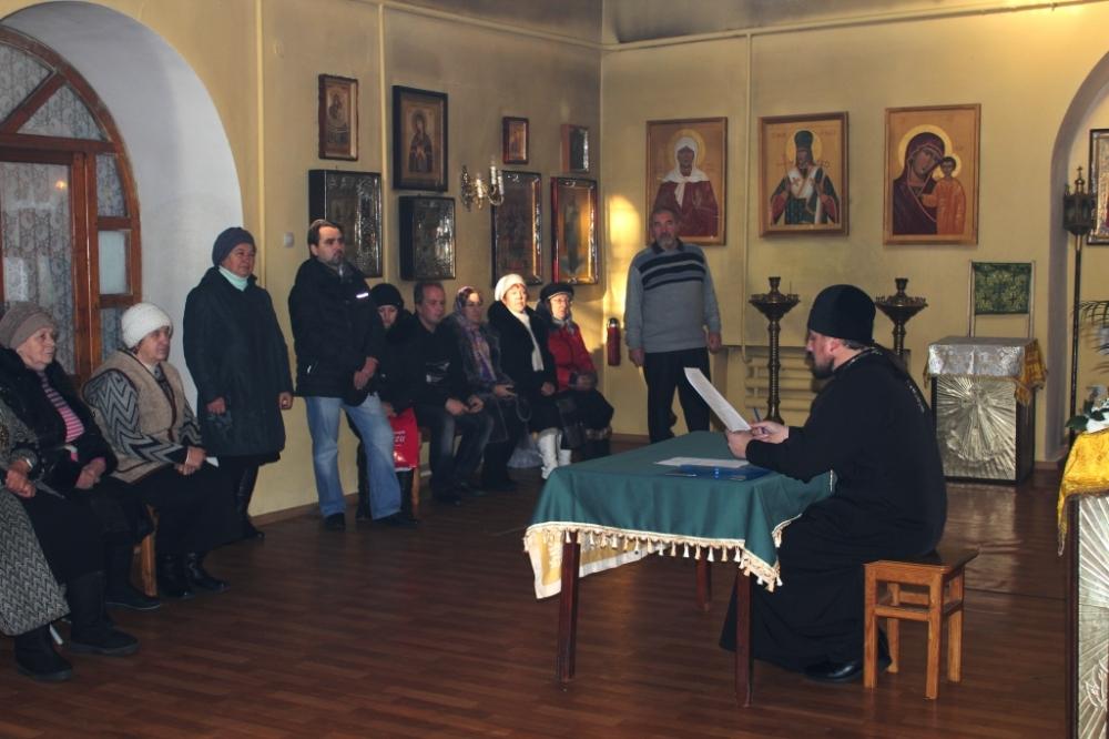 Приходское собрание в п.Ивня07 Декабрь 2014