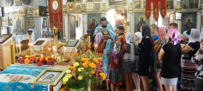 Молебен перед учебой в с.Песчаное и с.Хомутцы