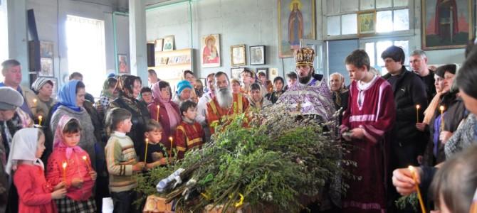 Вербное воскресенье в с. Песчаное