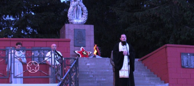 Митинг памяти и скорби в п. Ивня.
