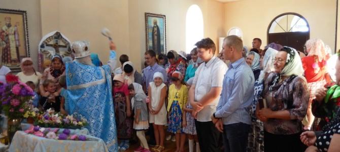 Молебен для школьников в с. Новенькое
