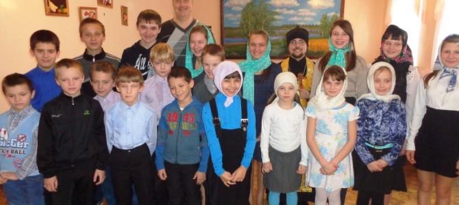Освящение воды в детском реабилитационном центре п.Ивня.
