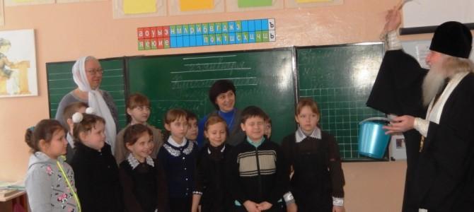 Освящение школы в Новеньком.
