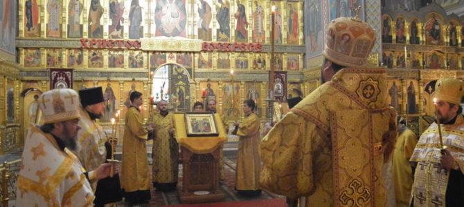 Архиерейское богослужение в с. Верхопенье.