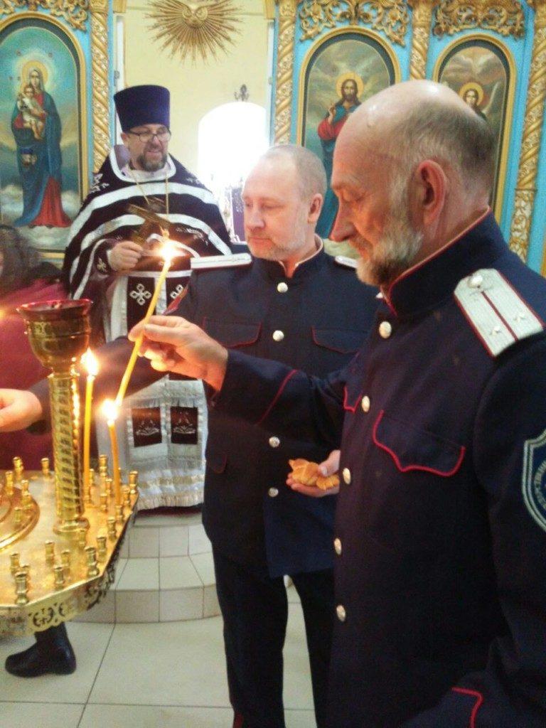 Божественная литургия с казаками